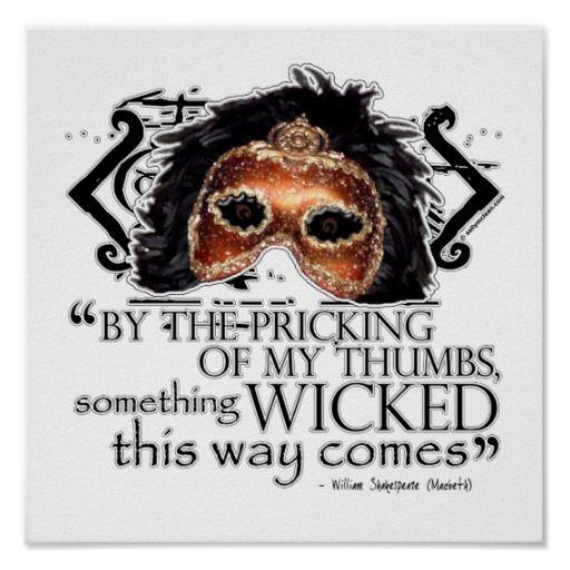 Shakespeare Halloween Quotes: Macbeth Quote Poster