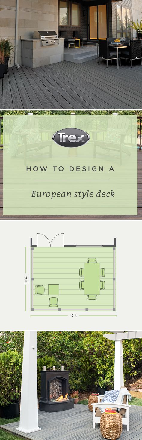 When It Comes To European Design, Simplicity Is Key. This DIY Deck Plan From