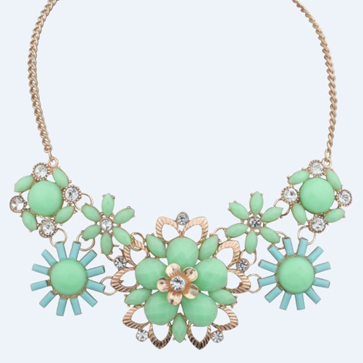Newest Women Jewelry Pendant Crystal Choker Chunky Statement Chain Bib Necklace $0.99
