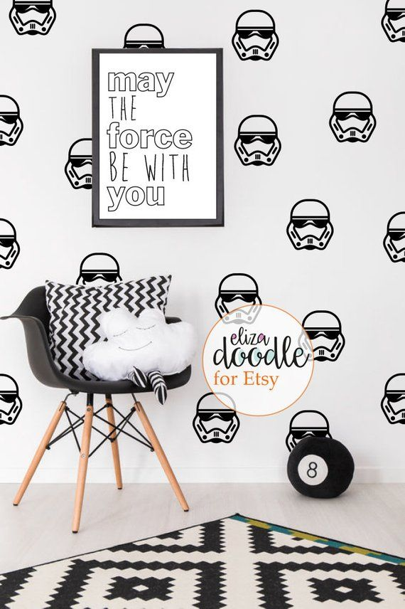 Star Wars Fans Watch Out Make Little Boys Star Wars Dreams Come True With These Storm T Wall Stickers Nursery Boy Star Wars Wall Sticker Nursery Wall Stickers