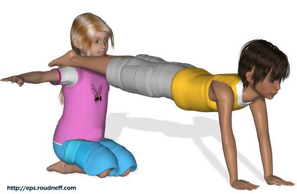 Figuras de acrosport en primaria. *Acrosport en primaire - Duos faciles en 3D idée spectacle cirque.