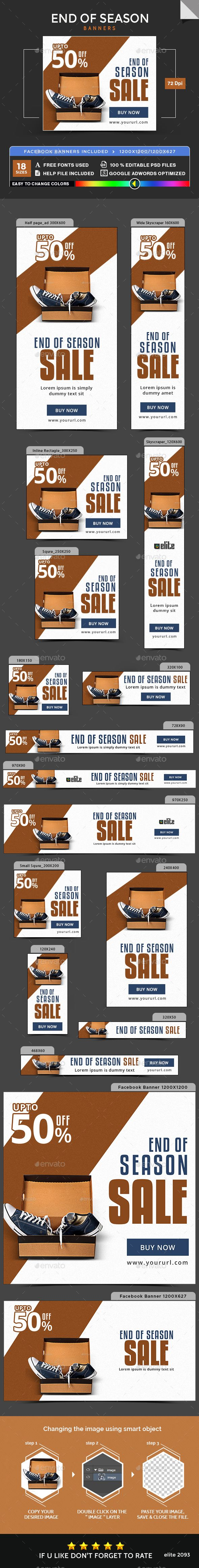 End of Season Banners Template PSD #ads