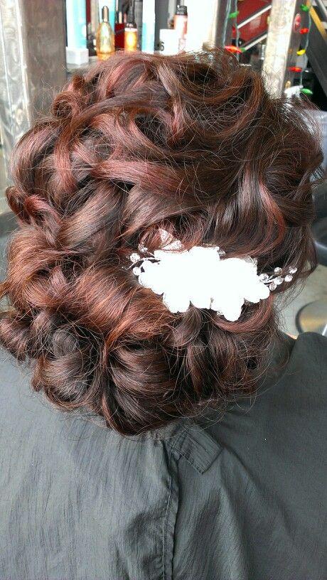Wedding hair! Oh how i love updo days!