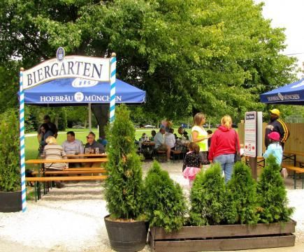 Estabrook Beer Garden in Milwaukee, one of our picks for best new Midwest places to eat, play or stay. More: http://www.midwestliving.com/travel/around-the-region/best-new-midwest-attractions-restaurants-and-hotels/