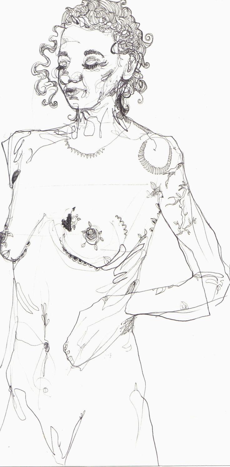 Life Model with Tattoos. Nina Meahan, 2014