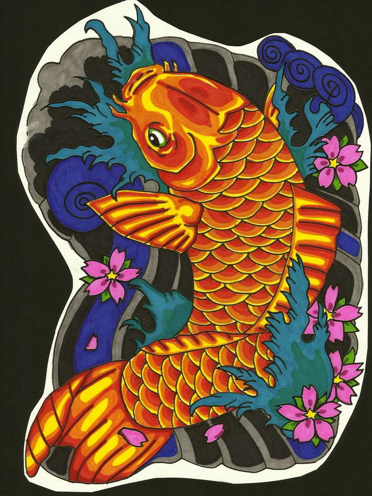 45 Traditional Japanese Koi Fish Tattoo Meaning Designs: 219 Best Koi Fish Images On Pinterest