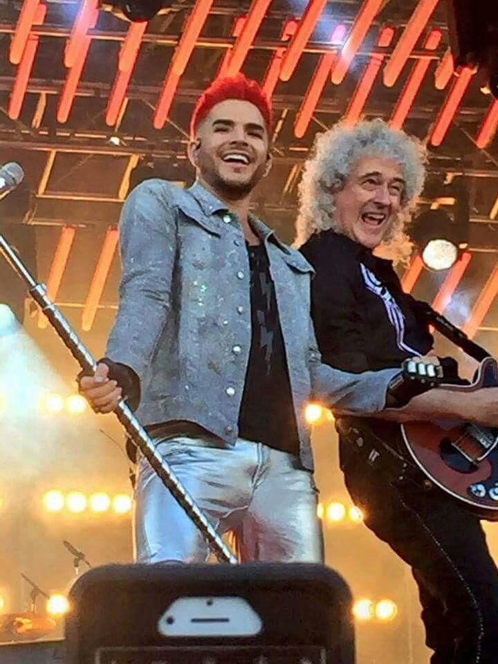 Queens Brian May with Frontman Adam Lambert