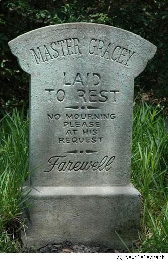 tombstone master gracey halloween tombstoneshalloween signsfunny - Funny Halloween Tombstones