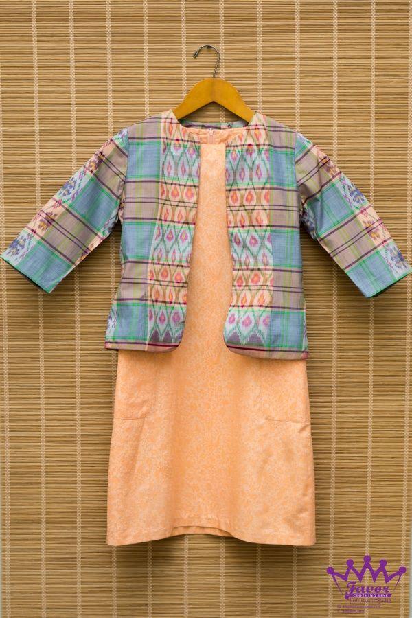 Peach Dress Songket