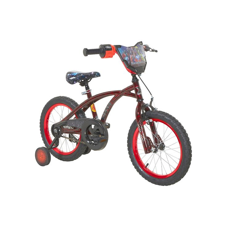 Boys Dynacraft 16-Inch Power Ranger Training Wheel Bike, Red