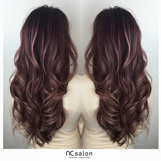 """303 Likes, 35 Comments - Natural Creations Salon Canada (@ncsalon.to) on Instagram: """"Rose pink #balayage highlights."""""""