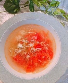トマトと卵とザーサイのスープ