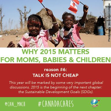 2015 matters for moms, babies and children globally. Reason #6: Talk is not cheap.
