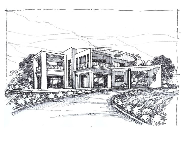 Sketches Of Modern Houses Google Search Things To Draw Pinterest Sketches House Design