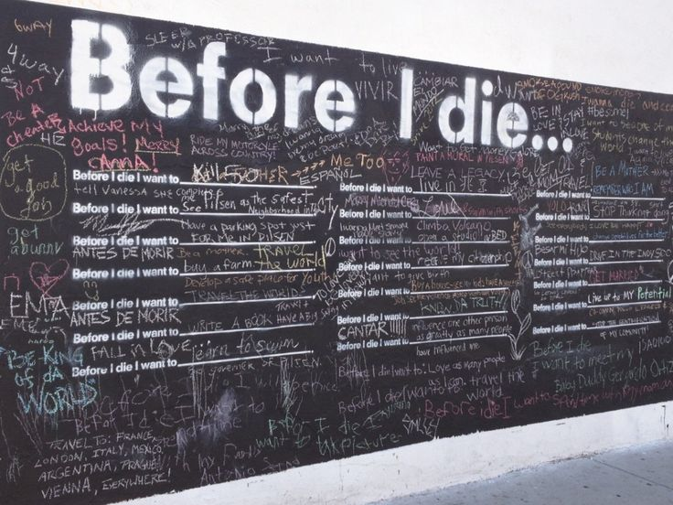 """Candy Chang's """"Before I Die"""" interactive public art installation"""