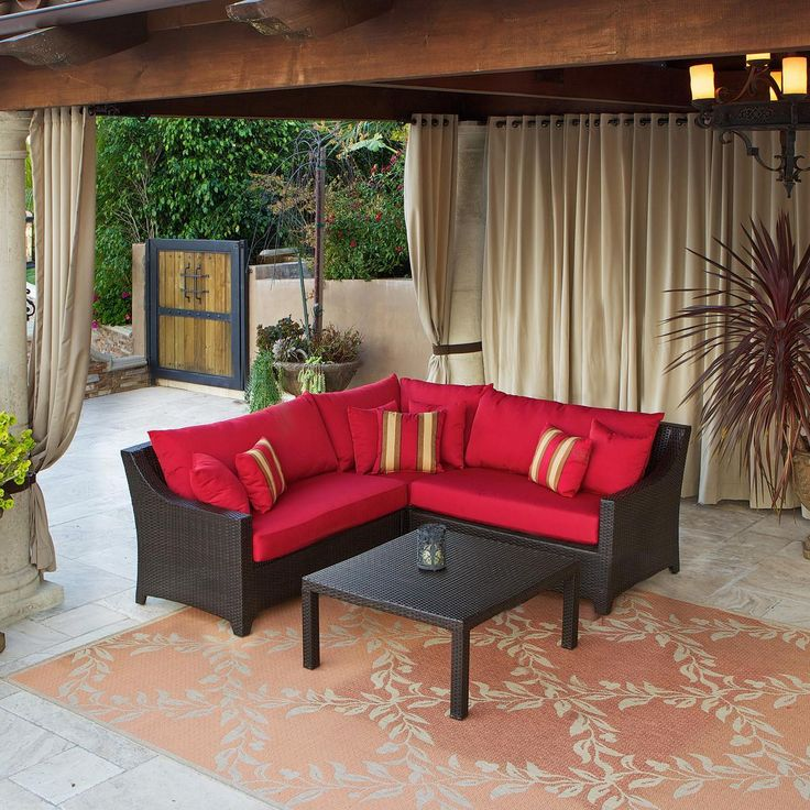 Small Sectional Patio Furniture - Interior Paint Color Schemes Check more at http://www.tampafetishparty.com/small-sectional-patio-furniture/