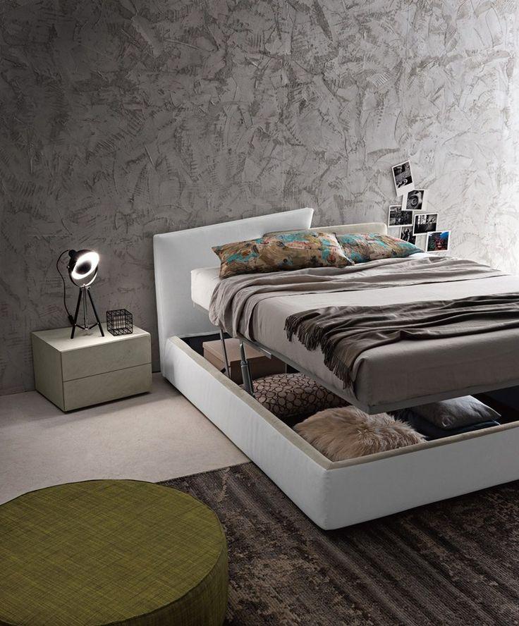 Oltre 25 fantastiche idee su testiera letto contenitore su for Struttura letto sospeso