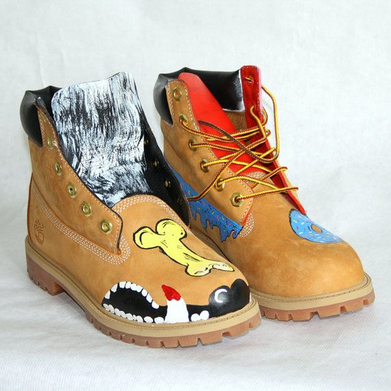 Handpainted Timberland Shoes Timberlands Shoes Timberland Boots Timberland