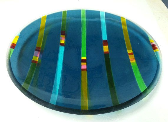 Glass platter/bowl/serving plate by PKGlassworks on Etsy, $450.00
