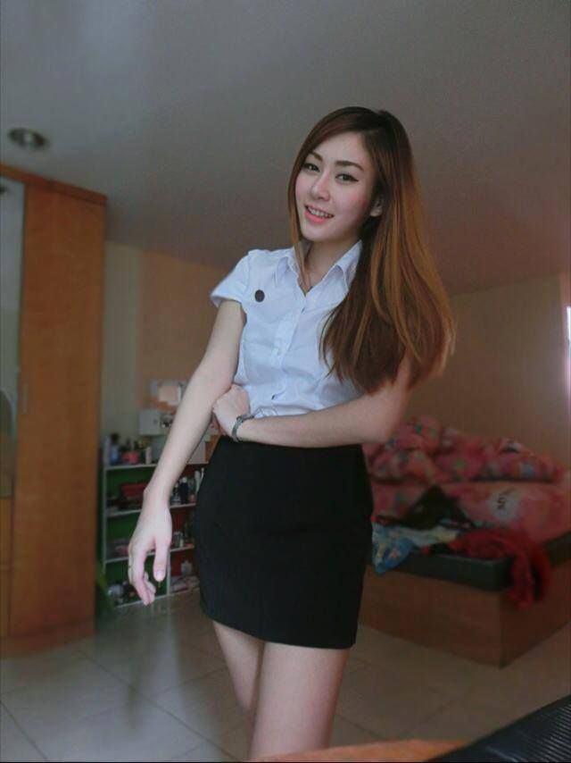 Thailand University Student Sexy Girl Costume Fit Shirt -2963