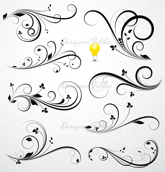 Abstract Swirl Tattoo | Swirls Vectors