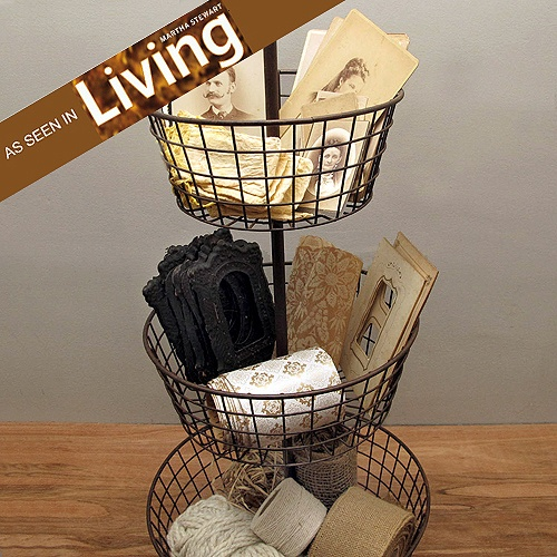 As Seen In Martha Stewart Living, This Three Tier Basket Can Be Used To  Display