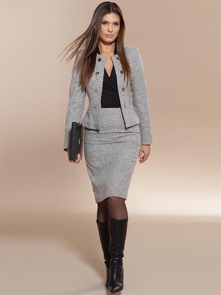 Элегантные костюмы юбка пиджак