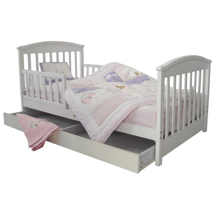 Dream On Me Mission Style Toddler Bed With Storage Drawer 132 33