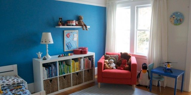 A New Toddler Bedroom Benjamin Moore Electric Blue For
