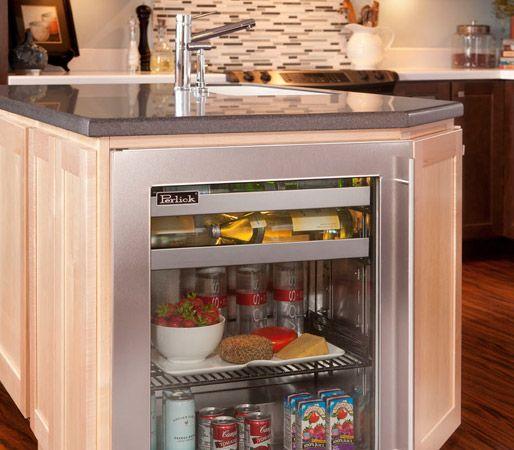 "Yorkville Home Design Center: 18"" Shallow-Depth Refrigerator, Beverage Center, Wine"