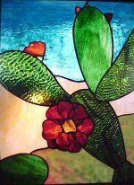 Original Southwestern stained glass art! #StainedGlassCactus