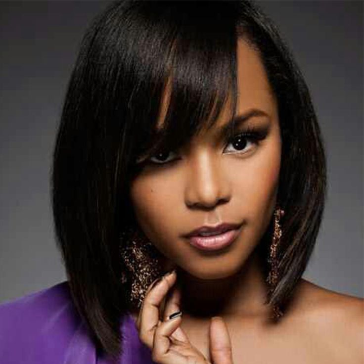 Short Human Hair Wigs Straight Bob Wig 8A Full Lace Human Hair Wigs For Black Women Short Lace Front Human Hair Wigs With Bangs