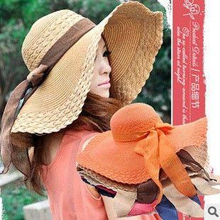 Солома шляпа для женщины большой краев шляпа пеший туризм пляж лето солнцезащитные головные уборы двойной - использовать защита от ультрафиолетовых лучей обтягивание кепка 8 цветов C095