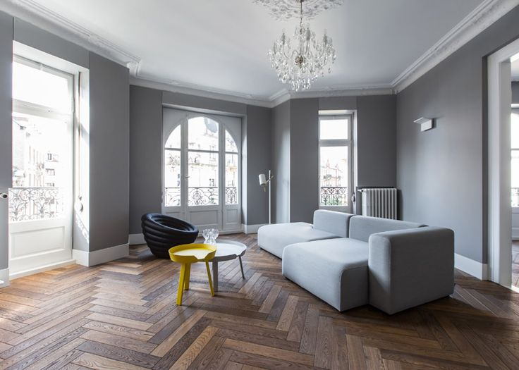 Ycl Adds Colourful Furniture Accents To Monochrome Strasbourg Apartment Interior Design Minimalist Home Decor Apartment Decor