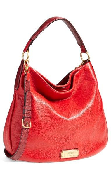 MARC BY MARC JACOBS 'New Q Hillier' Hobo available at #Nordstrom (in taupe or blue)