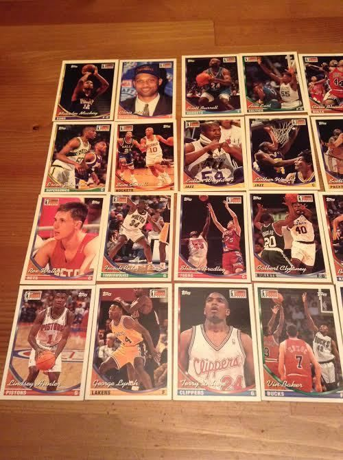 21 Rookie Basketball Cards 1993 & 1994 Topps NBA Draft Collectables Hobby Kids