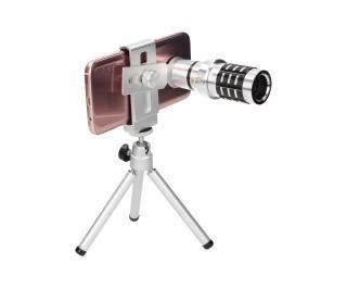 Foto 1 - Dalekohled LJ-0314 pro mobilní telefon - je ideálním doplňkem pro chytré mobilní telefony, dalekohled disponuje 12xZoom a je vyroben z leštěného hliníku