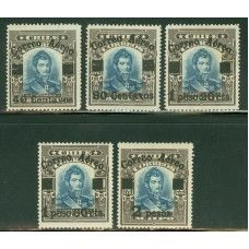 Chile C1-5  Available on our website www.oquiststamps.com
