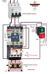 foto contactor trifasico 220v marcha paro pulsador marcha  foto contactor trifasico 220v marcha paro pulsador marcha