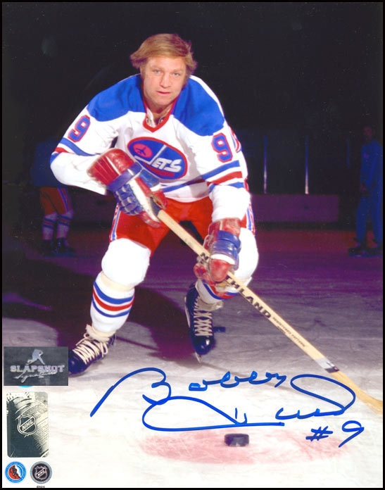 Bobby Hull Winnipeg Jets 8x10 Vintage photo.  Available at  http://www.slapshotsignatures.com
