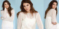 Пуловер из тонкого мохера спицами