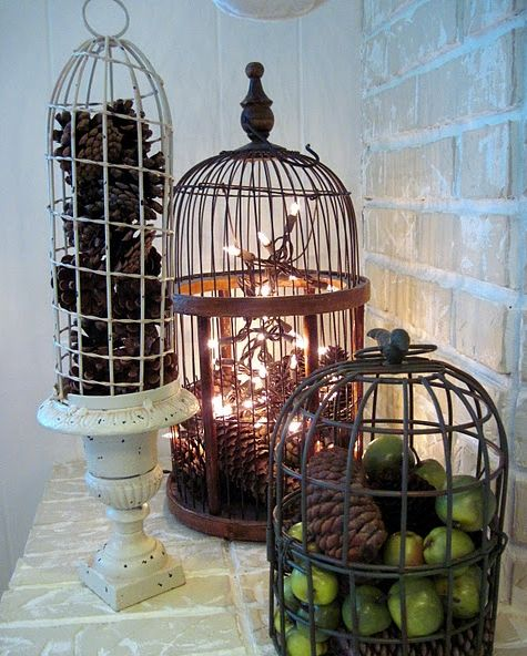 38 best images about bird cages on pinterest birdcage for Cage d oiseau decorative