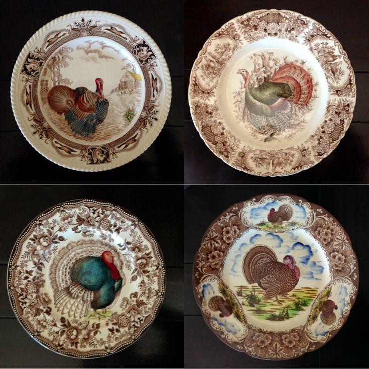 Vintage turkey plates / moms collection