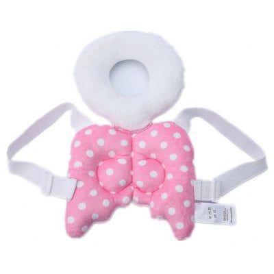 Child Pink Polka Dot Travel Pillow