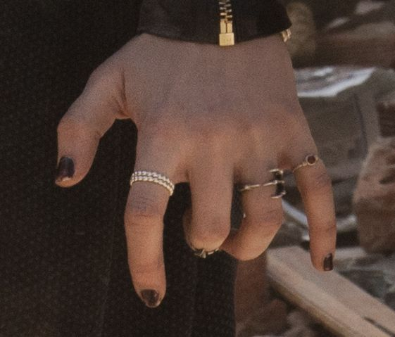 Crop from High-res photo displaying rings on the left-hand from Scarlet Witch