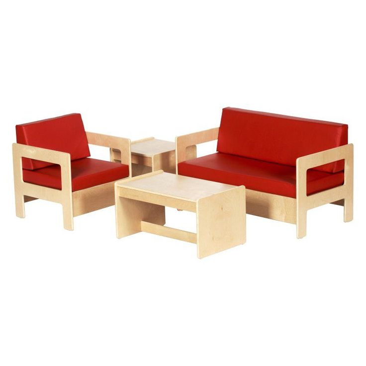 ECR4KIDS Red Living Room Set - 4 Piece - ELR-0680