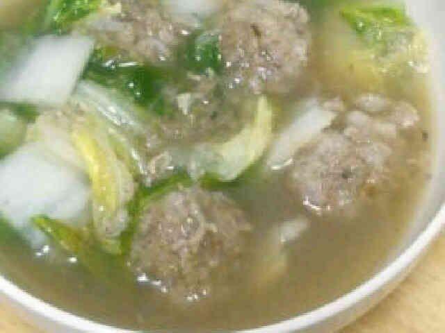 もちもち♪れんこん団子と白菜のスープの画像