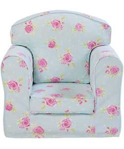 Just4Kidz Lanya Rose Print Arm Chair - Blue #ArgosRoomInspiration