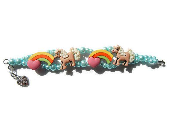 Pony bracelet rainbow bracelet little girls jewelry door EraOfCrea