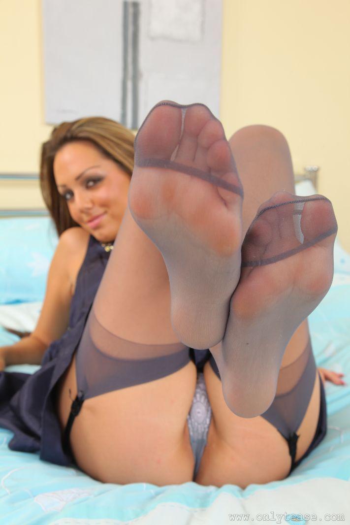 Worn sheer stockings imperfect fetish